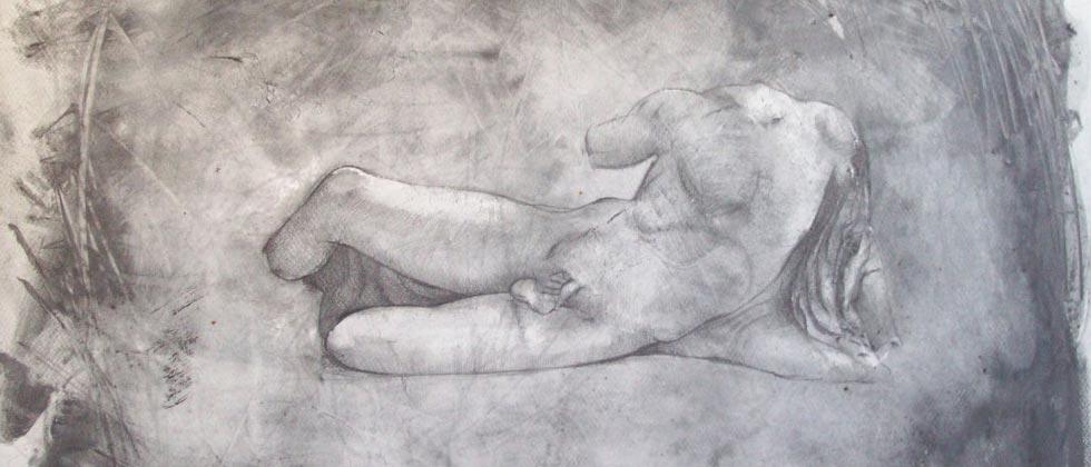 Drawing of Illisos in pencil by Alan Dedman