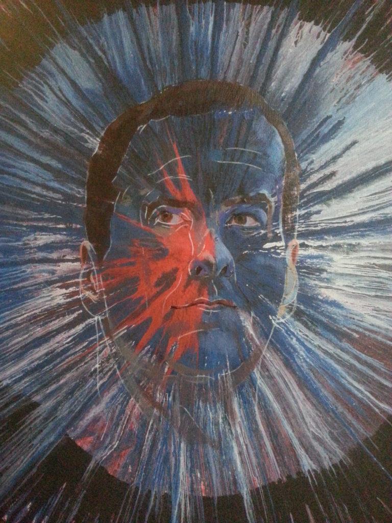 portrait spin painting alternative art by alan dedman