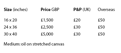 prices for commissioned paintings of the nude by alan dedman