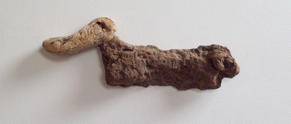 Assemblage Duck in drift-wood by Alan Dedman